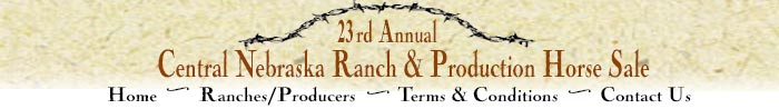 Central Nebraska Ranch & Production Horse Sale Broken Bow Nebraska Selling 101 head of Quarter Horses